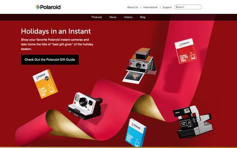 Screenshot of Home Page polaroid.com - home-holiday2018 - captured Nov. 12, 2018