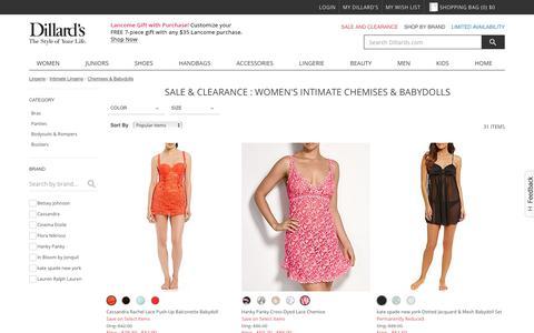 Sale & Clearance Lingerie | Intimate Lingerie | Chemises & Babydolls | Dillards.com