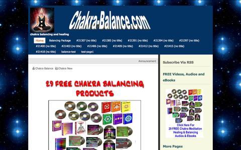 Screenshot of Home Page chakra-balance.com - Chakra Balance - captured March 26, 2016