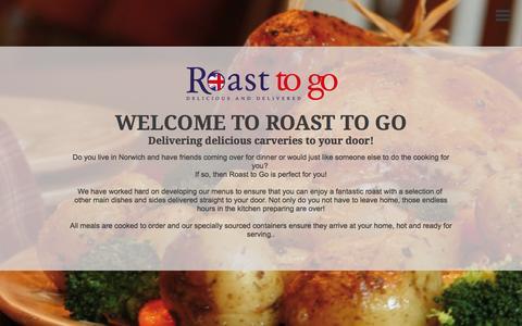 Screenshot of Home Page roast-togo.com - Roast To Go - captured Sept. 12, 2015