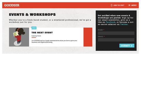 Events & Workshops | GOODSIR