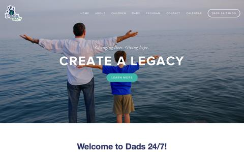 Screenshot of Home Page dads247.org - Dads 24/7 - captured Sept. 30, 2014