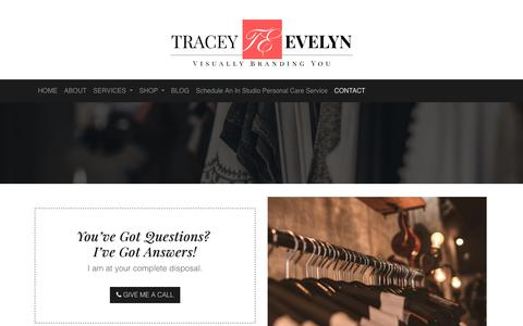 Screenshot of Contact Page traceyevelynbeautifulyou.com - Contact Us – Wardrobe Stylist, Image Consultant, Personal Shopper and Visual Branding Coach - captured Oct. 20, 2018