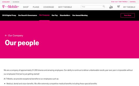 Screenshot of Team Page t-mobile.com - Our People - captured May 22, 2018