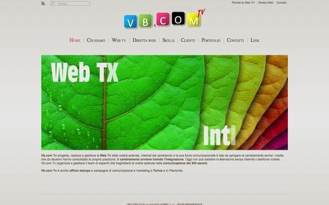 Screenshot of Home Page vbcomtv.it - Vb.com Tv - captured Sept. 30, 2014