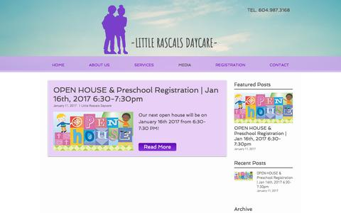 Screenshot of Press Page littlerascals.ca - Media - captured Aug. 20, 2017