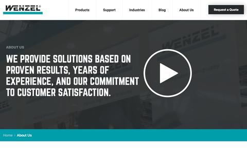Screenshot of About Page wenzelamerica.com - About Us | Metrology Equipment Manufacturers | Wenzel America - captured Oct. 20, 2018