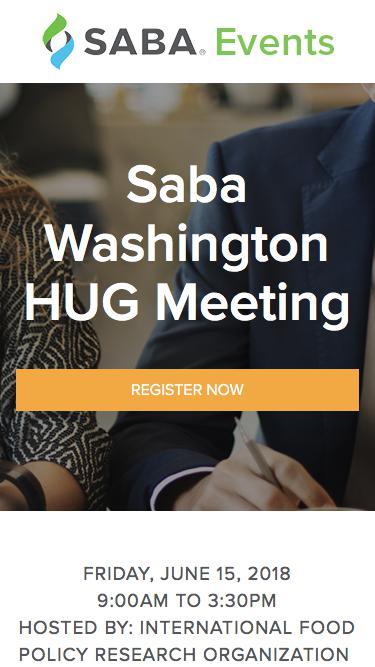 Saba Washington HUG Meeting