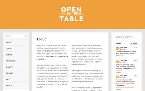 Screenshot of About Page open-table.org - About | Open Table - captured Oct. 9, 2014