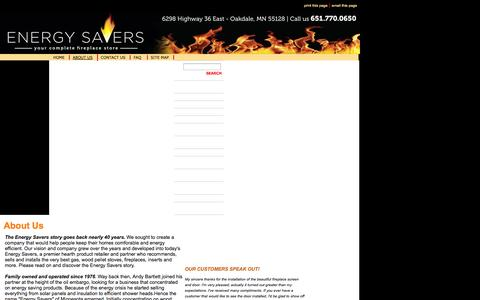 Screenshot of About Page energysavers.us - ENERGY SAVERS IS FAMILY OWNED AND OPERATED - captured Oct. 2, 2014