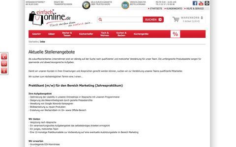 Screenshot of Jobs Page einfach-online.de - Jobs  - einfach-online.de - captured June 3, 2016