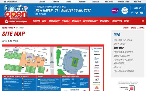 Screenshot of Site Map Page ctopen.org - Site Map | Connecticut Open - captured Aug. 23, 2017