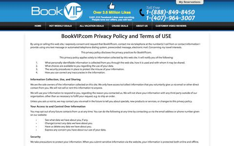 Screenshot of Privacy Page bookvip.com - BookVIP.com - Cheapest Vacation Packages To The Most Popular Destinations - captured June 23, 2017