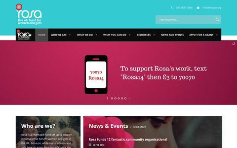 Screenshot of Home Page rosauk.org - Rosa - captured Feb. 27, 2016