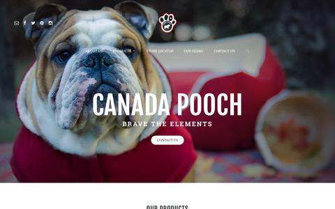 Screenshot of Home Page canadapooch.com - CANADA POOCH | Brave the Elements - captured Sept. 26, 2015