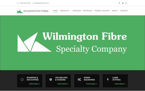Screenshot of Home Page wilmfibre.com - Wilmington Fibre - captured Jan. 22, 2016