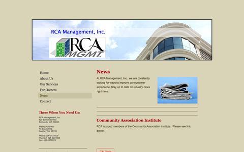 Screenshot of Press Page initial-website.com - RCA Management, Inc. - News - captured Nov. 3, 2014