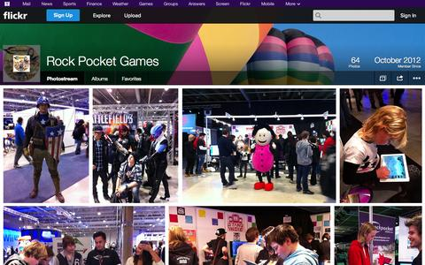 Screenshot of Flickr Page flickr.com - Flickr: Rock Pocket Games' Photostream - captured Oct. 26, 2014