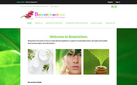 Screenshot of Home Page botanichem.co.za - Botanichem | - captured Oct. 6, 2018