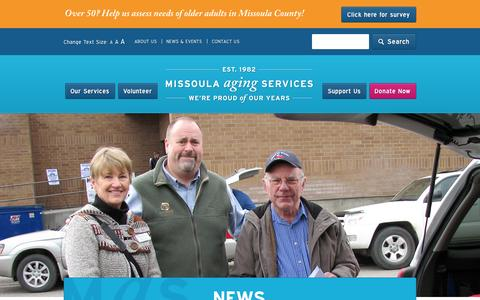 Screenshot of Press Page missoulaagingservices.org - News | 			    			     			    Missoula Aging Services - captured Oct. 26, 2014