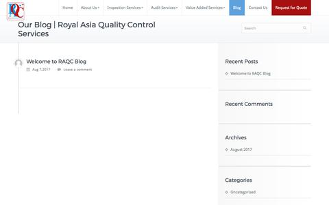 Screenshot of Blog rawinspectionservices.in - Our Blog | Royal Asia Quality Control Services - captured Oct. 23, 2017