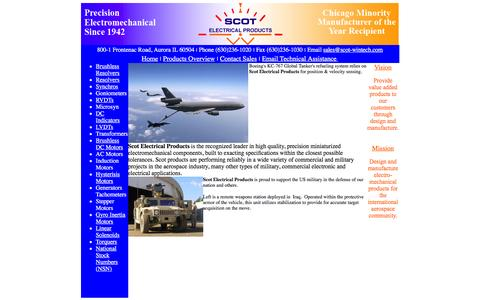 Screenshot of Home Page scot-wintech.com - Scot Electrical Products - captured Feb. 4, 2016