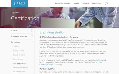Exam Registration - Juniper Networks