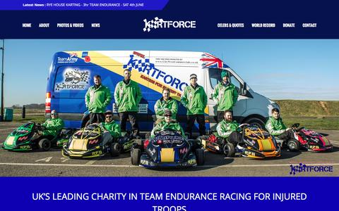 Screenshot of Home Page kartforce.org - KartForce – You don't need all of your limbs to race, just british bulldog spirit! - captured Aug. 8, 2016