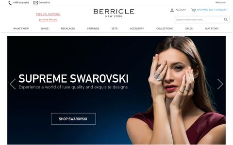 Wedding & Fashion Jewelry in Sterling Silver, CZ | BERRICLE