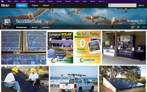 Screenshot of Flickr Page flickr.com - Flickr: ScudderSolar's Photostream - captured Oct. 27, 2014