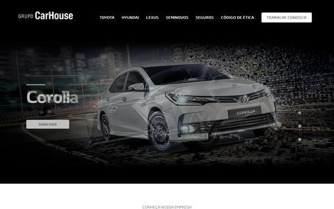 Screenshot of Home Page carhouse.com.br - Grupo CarHouse - captured July 15, 2018