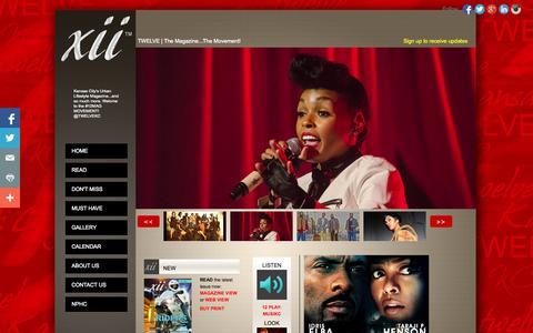 Screenshot of Home Page twelvekc.com - Home » Twelve KC - captured Oct. 7, 2014