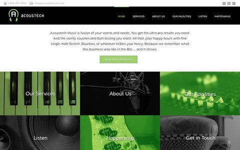 Screenshot of Home Page acoustechmusic.com - Acoustech Music - captured March 21, 2019