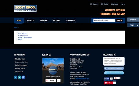 Screenshot of About Page scottbros.com - About Us - Scott Bros - captured Dec. 22, 2015