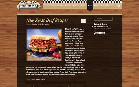 Screenshot of Press Page grobbel.com - News | Grobbel's, America's Oldest Corned Beef Specialist - captured Oct. 1, 2014