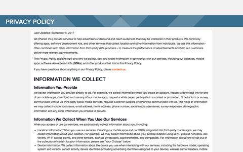 Privacy Policy | Placed