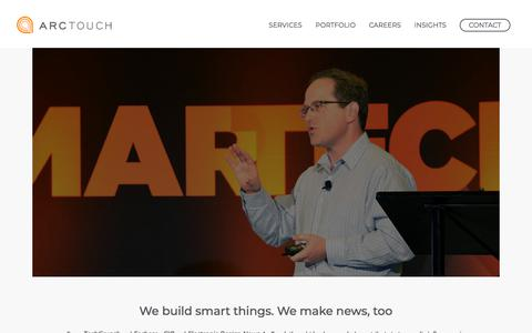 Screenshot of Press Page arctouch.com - ArcTouch in the News | Interviews and Articles from our Mobile Experts - captured March 19, 2018