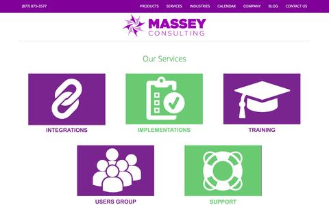 Screenshot of Services Page masseyconsulting.net - Services | Massey Consulting - captured Jan. 9, 2016