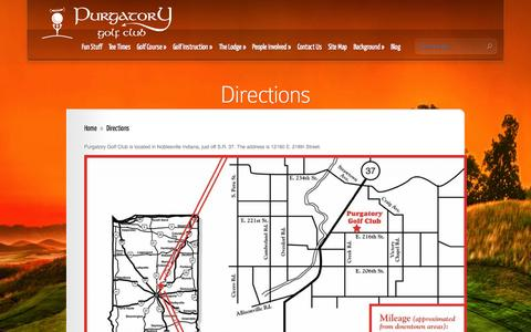 Screenshot of Maps & Directions Page purgatorygolf.com - Directions | Purgatory Golf Club - captured Oct. 3, 2014