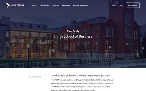Screenshot of Case Studies Page kiratalent.com - Smith School of Business - Customer Story | Kira Talent - Video Admissions Platform - captured Oct. 24, 2017