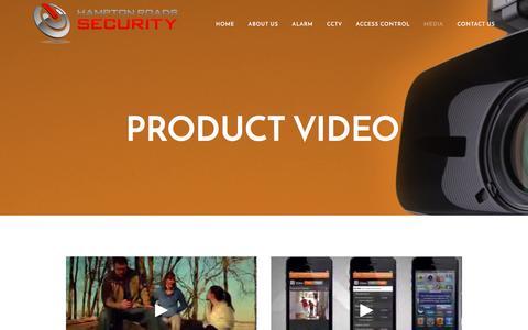 Screenshot of Press Page hamptonroadssecurity.com - Product Video — Hampton Roads Security - captured May 14, 2017