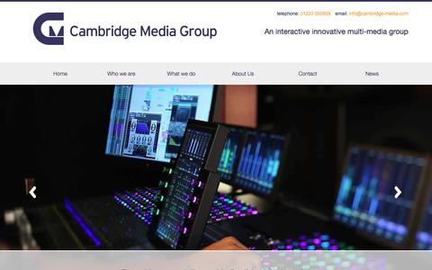 Screenshot of Home Page cambridge-media.com - Cambridge Media Group publishing and new media technolo - captured July 12, 2017