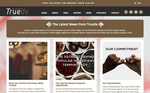 Screenshot of Press Page truede.com - News - Truede Turkish Delight and Luxury Confectionery - captured Nov. 14, 2017