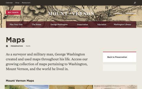Screenshot of Maps & Directions Page mountvernon.org - Maps·George Washington's Mount Vernon - captured Sept. 22, 2017