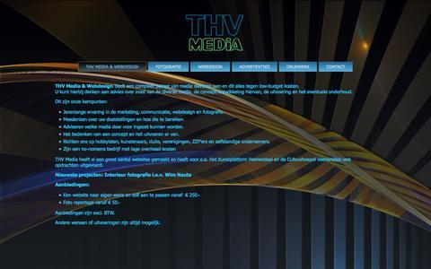 Screenshot of Home Page thvmedia.nl - MEDIA, WEBDESIGN & FOTOGRAFIE   Media, Webdesign & Fotografie - captured Oct. 9, 2014