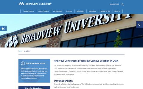 Screenshot of Locations Page broadviewuniversity.edu - Broadview University | Real World Education - captured July 30, 2016