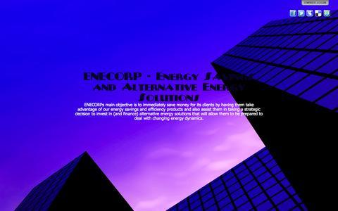 Screenshot of Home Page enecorp.biz - ENECORP - Energy Savings and Alternative Energy Solutions - captured Sept. 30, 2014