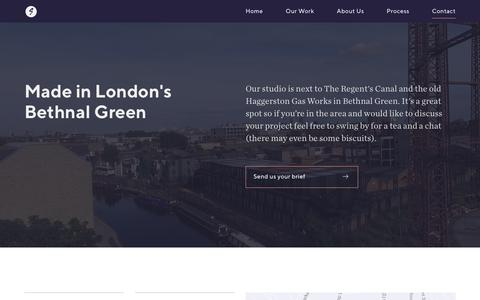 Screenshot of Contact Page superwire.co.uk - Contact Superwire, branding and website design in Bethnal Green, east London - captured Oct. 25, 2017