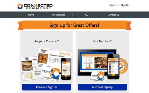 Screenshot of Signup Page connectedcommerce.net - Signup - captured Sept. 30, 2014