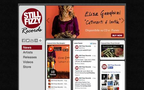 Screenshot of Press Page stillfizzy.com - Still Fizzy Records - captured Oct. 7, 2014